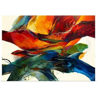 Jonas Gerard Poster Print entitled Opposites Attract - multi-color