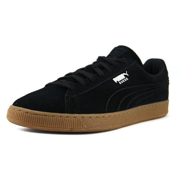 Puma Suede Classic Debossed Q4 Round Toe Suede Sneakers
