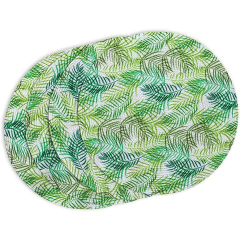 Woven Placemats, Fern Leaf (15 in, Green, 4-Pack)