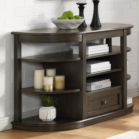 Furniture of America Marquess Transitional Gray 1-Drawer Sofa Table