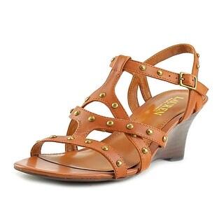 Lauren Ralph Lauren Hilda Women Open Toe Leather Wedge Heel