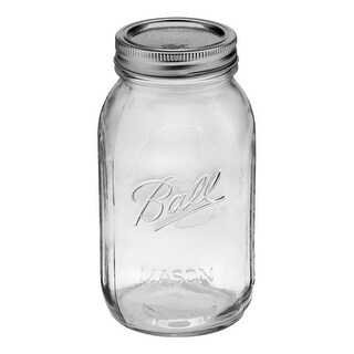 Ball 62000 Regular Mouth Mason Jars, 1 Quart (32 Oz), Box Of 12