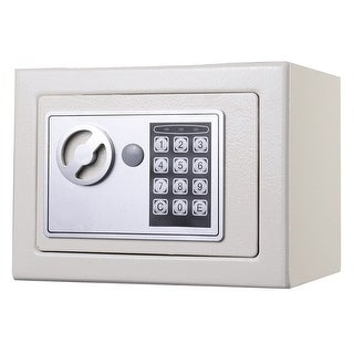 Costway Durable Digital Electronic Safe Box Keypad Lock Home Office Hotel Gun (White)