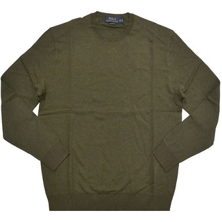 Polo Ralph Lauren NEW Olive Green Mens Size Small S Crewneck Sweater
