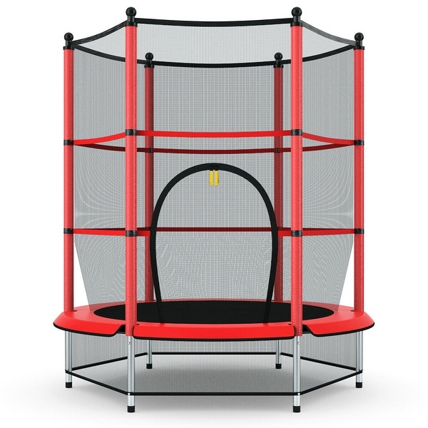 Gymax Kids Youth Jumping Round Trampoline Exercise W/ Safety Pad. Opens flyout.