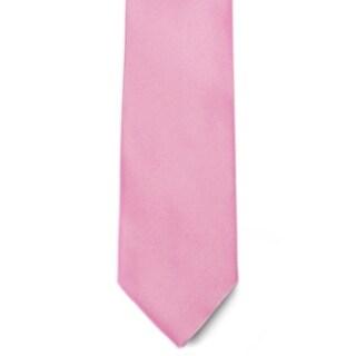 Men's 100% Microfiber Pink Tie