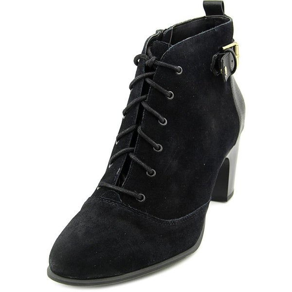 Giani Bernini Candence Women Round Toe Leather Ankle Boot