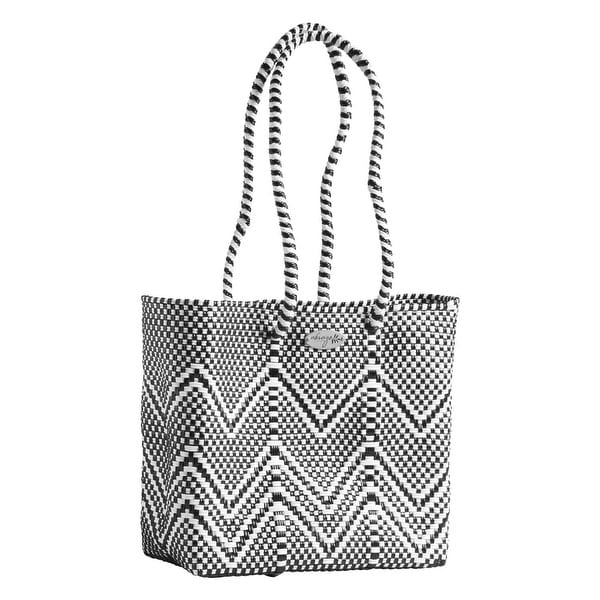 Shop Abrazo Style Oaxaca Zig-Zag Woven Tote Bag - Recycled Plastic  Structured Purse - Free Shipping On Orders Over  45 - Overstock - 20744252 0b972495ead83