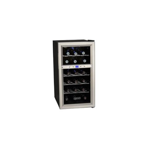 "Koldfront TWR181E 14"" Wide 18 Bottle Wine Cooler with Dual Thermoelectric Cooling Zones - Stainless Steel"