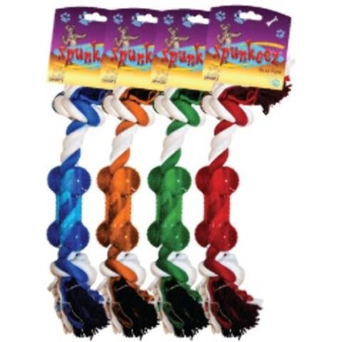 DDI 1266154 Spunkeez Rope with Nubby Chew Dog Toys Case of 24