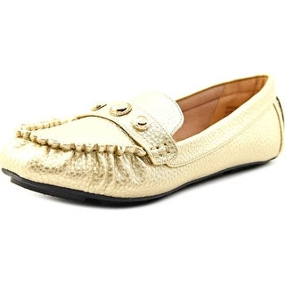 Annie Shoes Denise Women W Synthetic Gold Moccasins