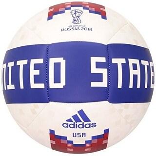 Adidas Mens Olp 18 Ball Usa, White,Boblue,Red, 5 - white,boblue,red