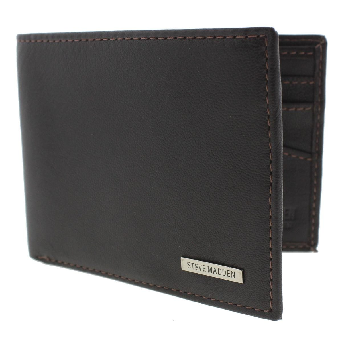 af73ca86e4 Shop Steve Madden Mens Bifold Wallet Leather RFID Protection - O/S - Free  Shipping On Orders Over $45 - Overstock - 19487410