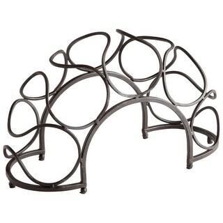 "Cyan Design 5815 9.5"" Bridge Wine Rack - black bronze"