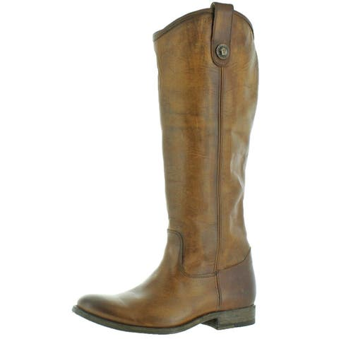 Frye Womens Melissa Button Extended Riding Boots Leather Vintage