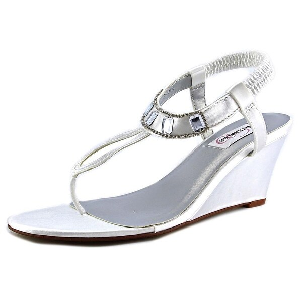 Dyeables Mila White Sandals