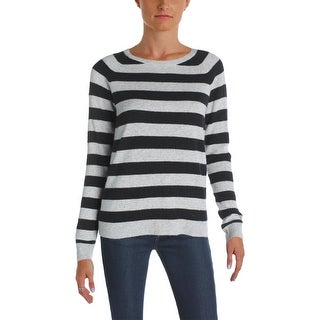 Aqua Womens Pullover Sweater Cashmere Striped