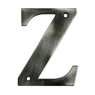 """Deltana RL4Z 4"""" Solid Brass Residential Letter Z"""