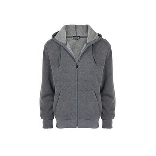 Men's Fashion Classic Solid Full-Zip Fleece Hoodie Jacket Sweatshirt