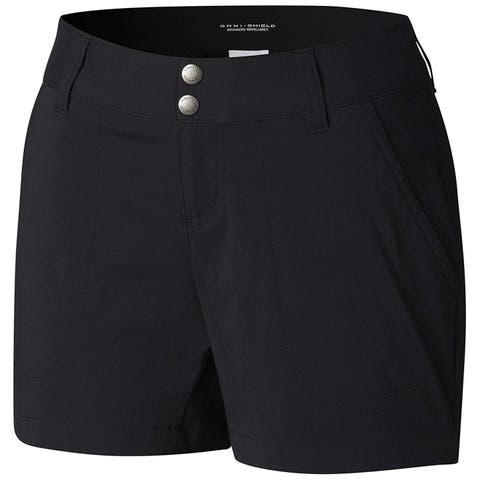 Columbia Women's Black Size 12 Double Button Water Resistant Shorts