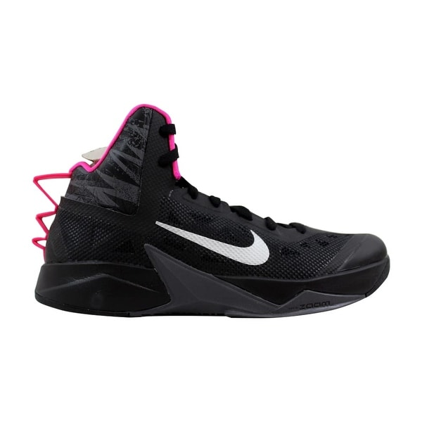 official photos 77ef0 939bc Nike Zoom Hyperfuse 2013 Black Metallic Silver-Dark Grey-Pink 615896-002