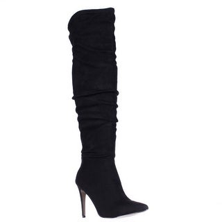Chinese Laundry Stunning Over The Knee Pointed Toe Boots - Black