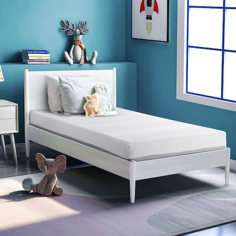 Nestfair 6 Inches Gel and Charcoal Infused Memory Foam Mattress - White