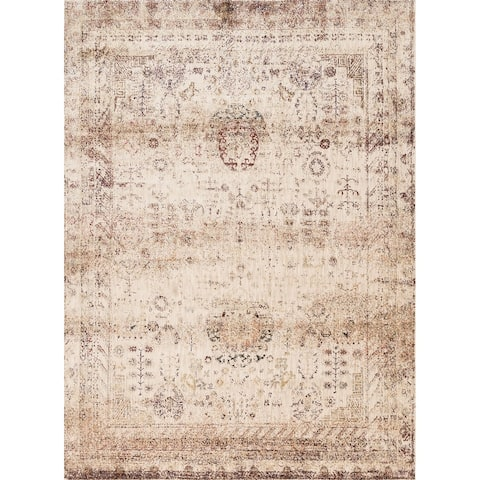 Alexander Home Contessa Traditional Botanical Distressed Rug