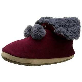 Cuddl Duds Womens Snuggle Cuddle Comfort Foam Fold-Over Booties