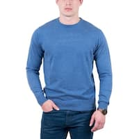 RC Cashmere Blend Light Blue Crewneck Wool Blend Mens Sweater - eu=48/us=s