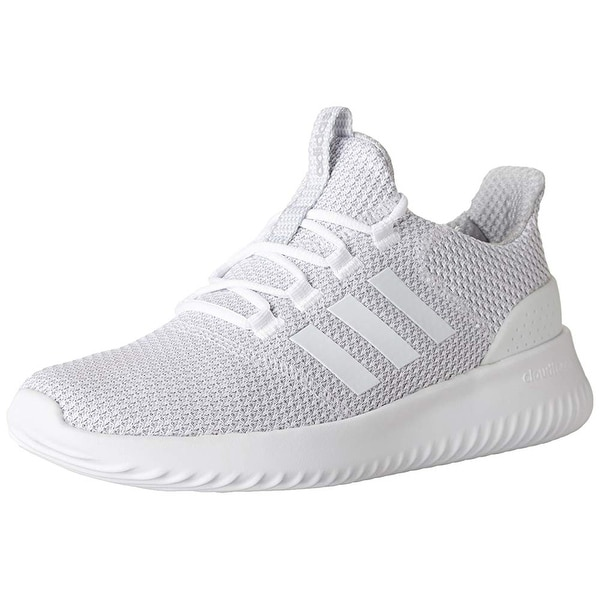 promo code 23ef5 25d1a Shop Adidas Men s Cloudfoam Ultimate Running Shoe White Grey, 11.5 Medium  Us - Free Shipping Today - Overstock - 24305493