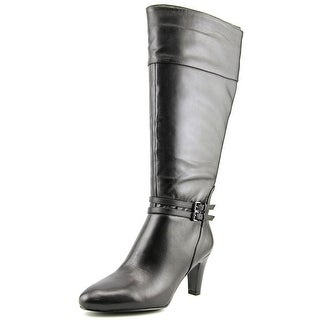 Bandolino Wiser Wide Calf Round Toe Leather Knee High Boot