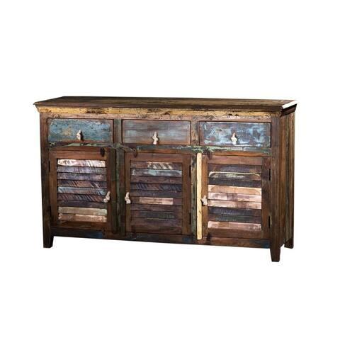 Reclaim Wooden 3 drawer & cabinet sideboard