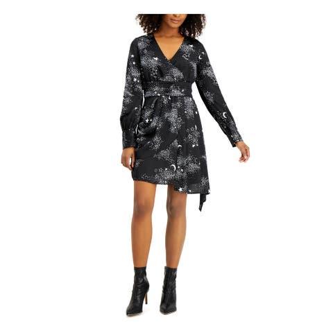 BAR III Black Long Sleeve Short Dress 10