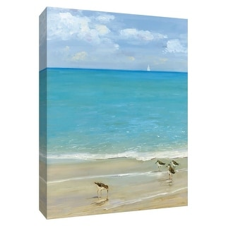 """PTM Images 9-148595  PTM Canvas Collection 10"""" x 8"""" - """"Sunday at the Shore"""" Giclee Beaches Art Print on Canvas"""