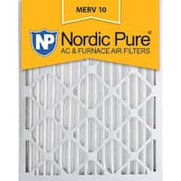 Nordic Pure 14x20x2 Pleated MERV 10 AC Furnace Air Filters Qty 3