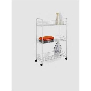 Honey-Can-Do CRT-01149 3-Tier Laundry Cart - White