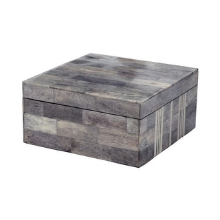 Elk Home 903008  Gray And White Bone Boxes - Large - Multi
