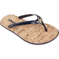 Tidewater Sandals Women's Sunset Flip Flop Navy/Gold