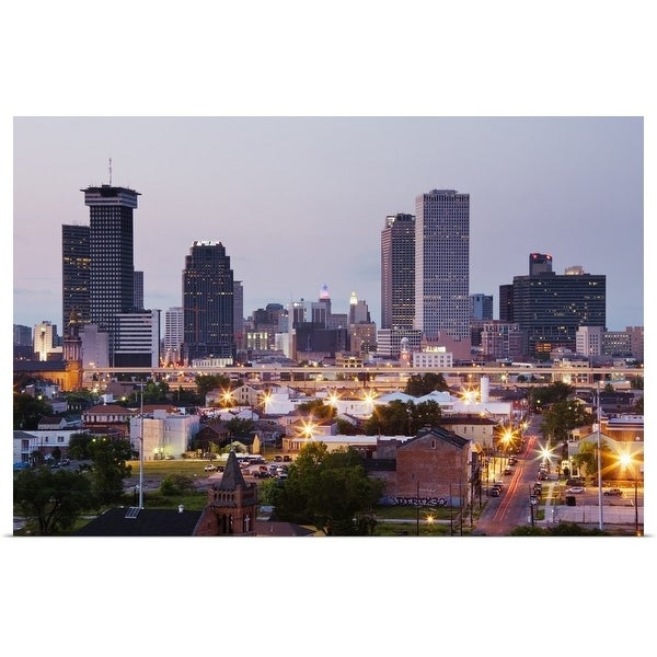 """New Orleans Skyline"" Poster Print"