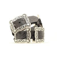 Nocona Western Belt Womens Concho Black Antique Silver