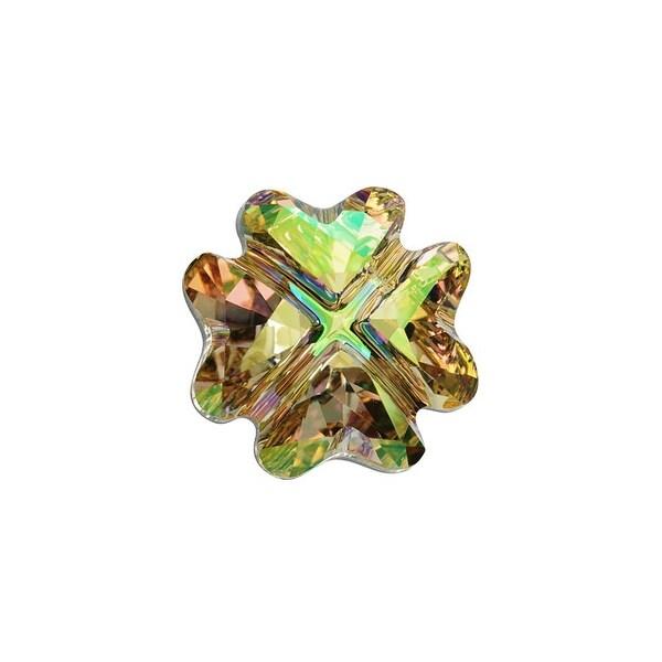 Swarovski Elements Crystal, 4785 Clover Fancy Stone 14mm, 1 Piece, Crystal Luminous Green F