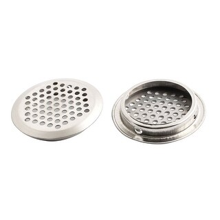 Cabinet Furniture 53mm Bottom Dia Air Vent Ventilation Cover 2PCS