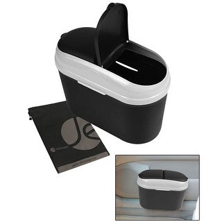 JAVOedge Dual Opening Small Car / Truck Trash Can with Removable Clip - Gray
