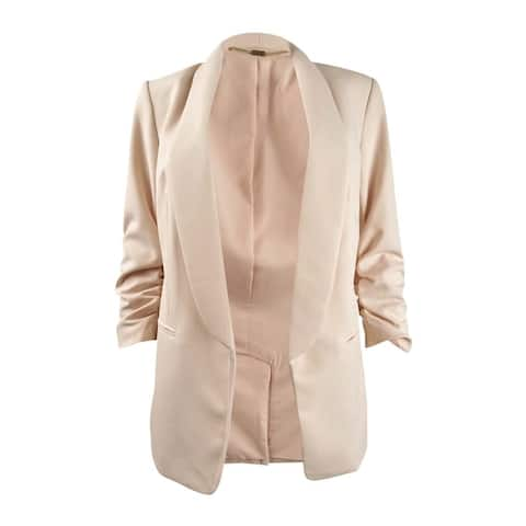DKNY Women's Shawl-Collar Ruched-Sleeve Blazer (14, Rose)