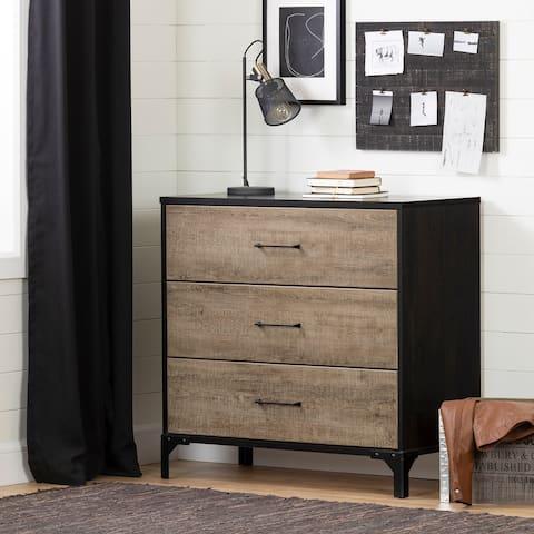 South Shore Valet Modern Industrial 3-Drawer Chest Dresser