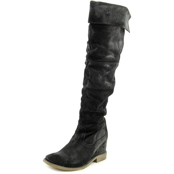 Matisse Stephen Women Round Toe Suede Black Knee High Boot
