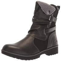 JBU Womens Evans Round Toe Ankle Cold Weather Boots
