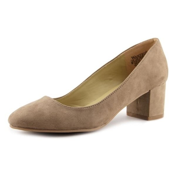 Wanted Amelia Women Round Toe Suede Tan Heels