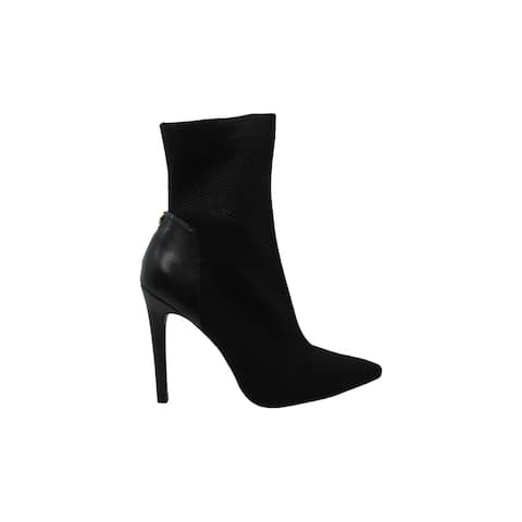 Guess Womens One girl Fabric Pointed Toe Ankle Fashion Boots